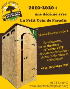 """10 après le lancement du Petit Coin de Paradis en événementiel, nous lançons notre offre """"CHANTIERS BTP"""" !"""